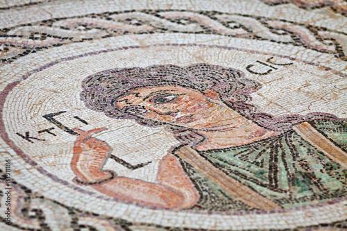 Papiers peints Chypre Fragment of ancient religious mosaic in Kourion, Cyprus