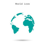 Pictograph of globe icon vector illustration poster