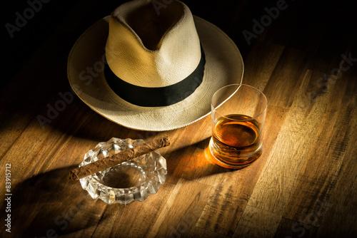 Rum, Hut und Zigarre Poster