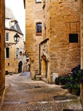 Medieval lane in the old town of Sarlat, Dordogne, France