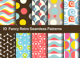 Fototapety Abstract seamless patterns. Geometrical and ornamental motifs