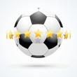 ������, ������: Vector illustration of football ball with golden stars