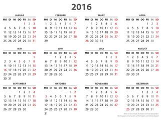 kalender 2016 woche. Black Bedroom Furniture Sets. Home Design Ideas