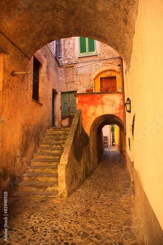 Obraz na Szkle Medieval town