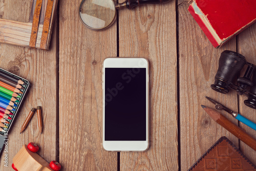 Smart phone mock up for artwork or app design presentation Poster
