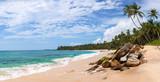 Panorama of beautiful tropical beach in Sri Lanka, Asia
