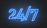 Fototapety 24/7 open concept neon sign