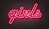 Hot girls neon sign