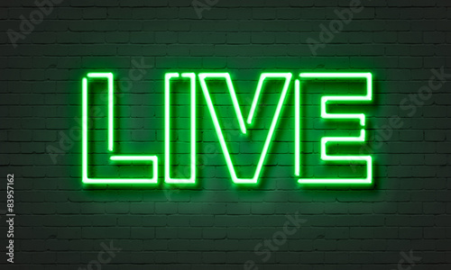 Live music neon sign - 83957162