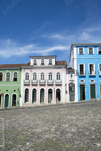 Colorful Colonial Architecture Pelourinho Salvador Brazil Poster