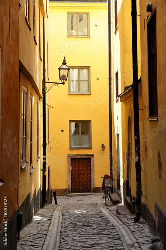 Staande foto Stockholm Side street in Stockholm