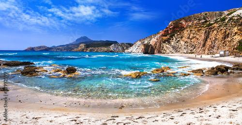 beautiful scenic beaches of Greek islands - Fyriplaka on Milos