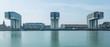 Kölner Rheinauhafen mit Kranhäusern