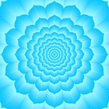 Tantric vishuddha chakra, blauw, cyaan Lotos - schildklier
