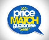 Fototapety 100% price match guarantee speech bubble.