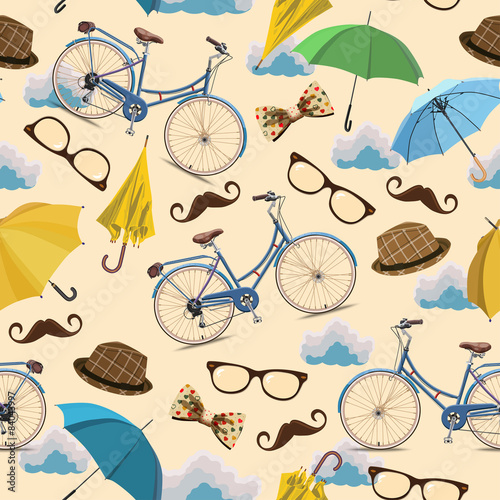 Cotton fabric Seamless autumn pattern