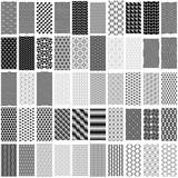 Fototapety Set of black and white geometric seamless pattern.