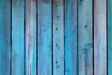 Fototapeta Blue wall made of wood