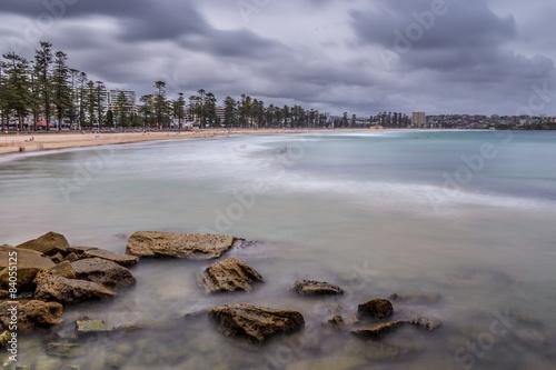 Poster Manly Beach in Sydney- Langzeitbelichtung