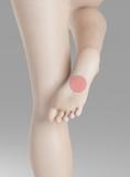 Piede destro dolore metatarso o pianta