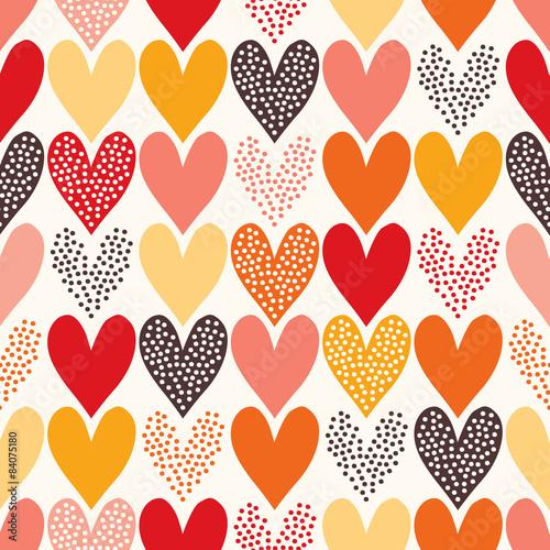Cotton fabric seamless heart textured pattern