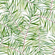 Waterverf het tropische doorbladert patroon