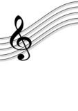 Notenschlüssel Musik Hintergrund A4