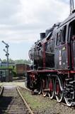 Naklejka stara lokomotywa parowa