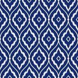 Fototapety Seamless indigo blue and white vintage Persian ikat pattern