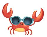 cangrejo con gafas de sol