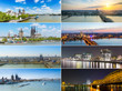 Stadt Köln Panorama Collage