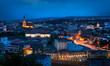 Old city of Cluj-Napoca night scene