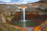 Fototapety Agrio River, Patagonia, Argentina, Provincial Park of Copahue -