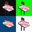 Welcome to fabulous Las Vegas neon sign isolated on background