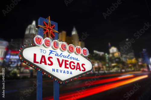 Zdjęcia Welcome to fabulous Las Vegas neon sign