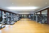Fitness center interior. Gym