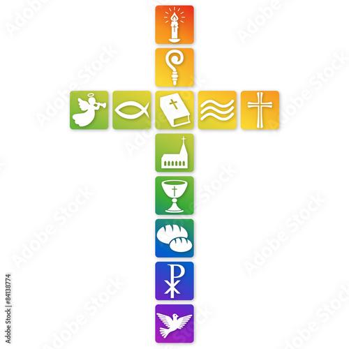 Gamesageddon Kreuz Aus Christlichen Buttons In Regenbogenfarben