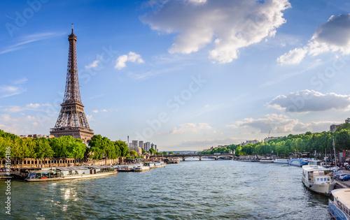 Deurstickers Parijs Tour Eiffel et pont d'Iéna