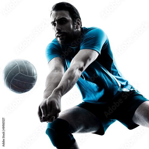 Fototapeta man volleyball silhouette