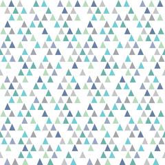seamless hipster geometric pattern triangles aqua blue
