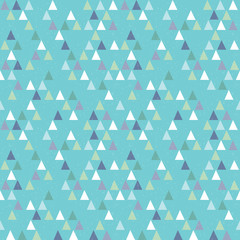 seamless hipster geometric triangles pattern on aqua blue