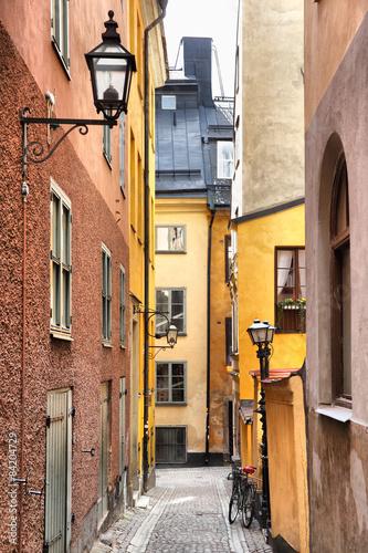Staande foto Stockholm Side street