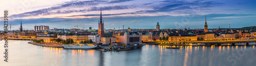 Foto op Canvas Europa Panorama of Stockholm, Sweden