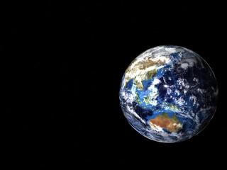 宇宙に浮かぶ地球