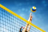 Fototapeta Beachvolleyball player net
