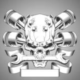 Vintage skull emblem