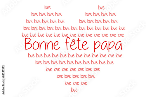 Bonne f te papa c ur rouge love stock photo and royalty free images on pic 84255372 - Coeur bonne fete papa ...