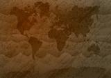 Vintage World map. poster