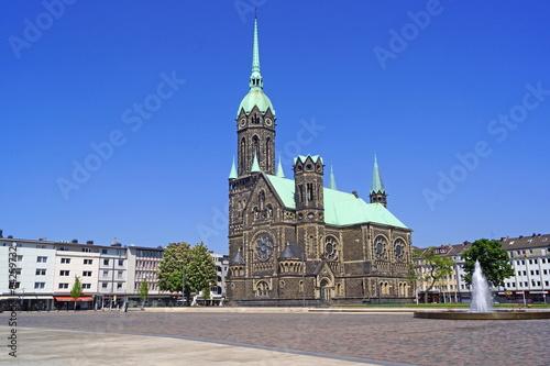 Leinwanddruck Bild MÖNCHENGLADBACH-RHEYDT mit evangelischer Hauptkirche