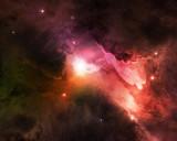 cosmic dust shining in starry night sky
